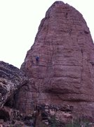 Rock Climbing Photo: Rapping from the mid station on the northwest face...