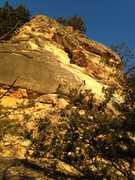 Rock Climbing Photo: Looking up at Inspiration