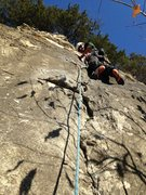 Rock Climbing Photo: Scott Riley at the first bolt on Artifact