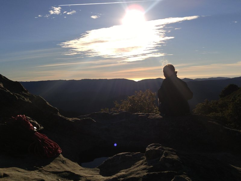 Rock Climbing Photo: Sunsets at the end of a long day