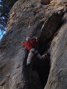 Rock Climbing Photo: Jim Karpowitz on climbing using the stemming optio...