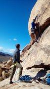 Rock Climbing Photo: Seth on lead