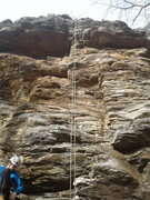 Rock Climbing Photo: The furthest right climb on the lower walls. (mayb...