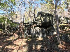 Rock Climbing Photo: Jabba the Hutt viewed from downslope. Catoctin Mou...