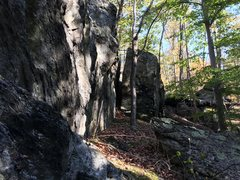 Rock Climbing Photo: The Sheath Chimney is visible between the Chief Bl...