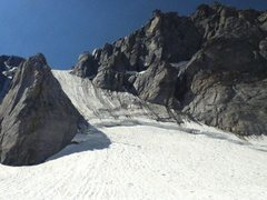 Rock Climbing Photo: Ski line down the backside of Fremont from the hig...