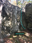 Rock Climbing Photo: The Knife Crack (V2-3) on the Knife Wall Cunningha...