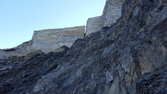 Rock Climbing Photo: This is the Chasm viewed from below (do not approa...