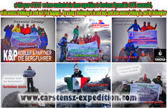 Carstensz Pyramid Expedition 100% Success Throughout the year 2016 we&#39;ve done 6 times the expedition to the summit of Carstensz Pyramid.  <br />with access: <br /><ul style='margin:0 0; padding:0 0;'><li>Trekking in/out</li></ul><ul style='margin:0 0; padding:0 0;'><li>By helicopter in/out </li></ul> <br />Let&#39;s join with INTERNATIONAL GROUP or want to PRIVATE <br /> <br />Already opened registration for those who wish to do expeditions to the summit of Carstensz Pyramid for next year 2017. <br /> <br />for more information please contact us: <br />PT. Berkat Carstensz Indonesia - Travel Agent  <br />info@carstensz-expedition.com or dennycarstensz@gmail.com <br />Phone : +62 81340798030  <br />Skype: denny.engka  <br />facebook: <a href='https://www.facebook.com/pages/Carstensz-Pyramid-Expedition/313694125086?ref=hlOur' target='_blank' rel='nofollow' >facebook.com/pages/Carstensz-P...</a> trip 100% success throughout the 2015 <br /> <br /><a href='http://www.carstensz-expedition.com' target='_blank' rel='nofollow' >carstensz-expedition.com</a>