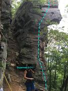 Rock Climbing Photo: Superman (5.7+) at Reed's Creek, West Virginia...