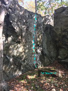 Rock Climbing Photo: Full Tang (v1-2) section of the Knife Wall Cunning...