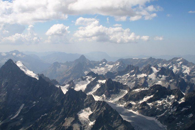 Glacier Blanc upper basin with Barre des Ecrins on the left