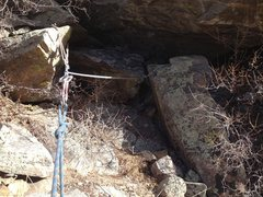 Rock Climbing Photo: A possible anchor area to climber's right.