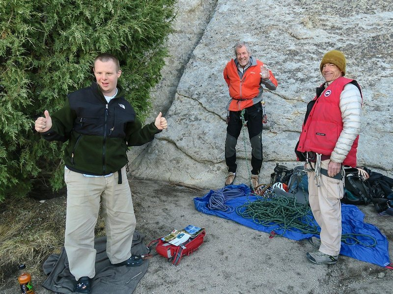 September 2016 climbing at City of Rocks with Andy Cairns  (and little Joe)<br> <br> Dave Vaughan Photo