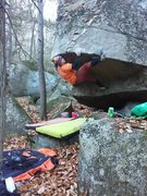 Rock Climbing Photo: I'm getting after it.