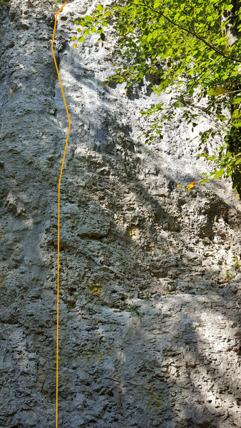 Rock Climbing Photo: Robin Hood climbs the obvious crack on the formati...