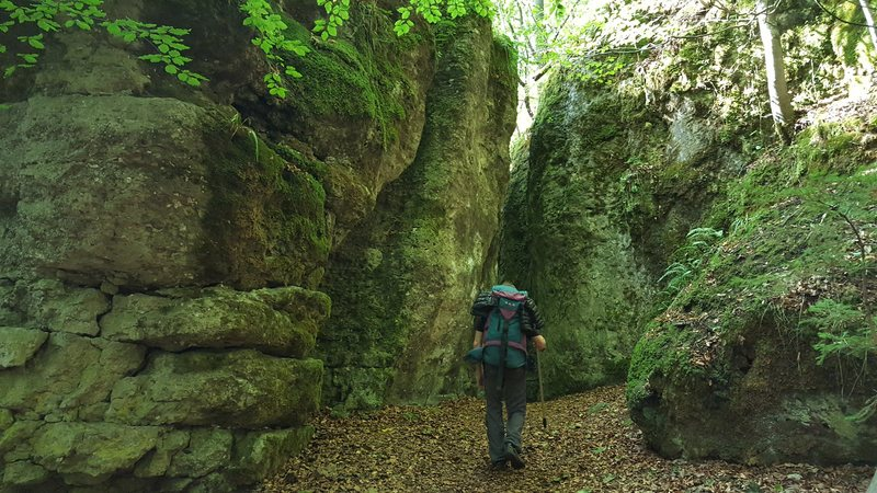 """Approach through the impressive boulders that form the """"Steinerne Stadt"""""""