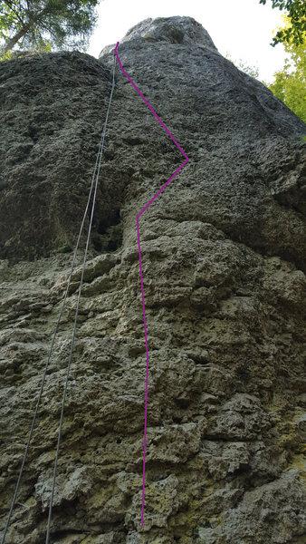 "Rock Climbing Photo: ""Alter Weg"" starts straight up the wall ..."