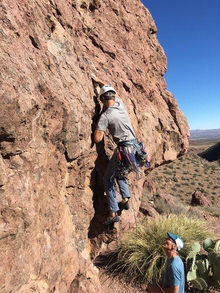 Rock Climbing Photo: The awkward start