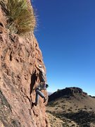 Rock Climbing Photo: Dancing up the ramp...