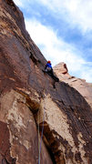 Rock Climbing Photo: Pro Choice--pitch 2. Photo: Ellen Brodrick. Nov, 2...