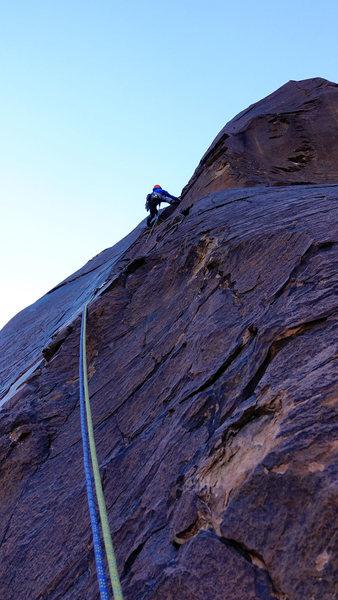 Rock Climbing Photo: Pro Choice--pitch 4. Photo: Ellen Brodrick. Nov, 2...