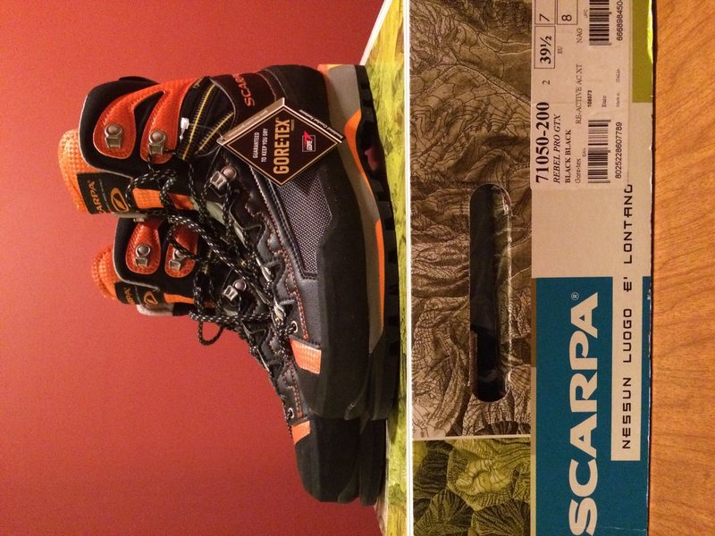 Rock Climbing Photo: Scarpa Rebel Pro GTX Mountaineering Boots, 39.5