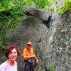 Ben Townsend and Sheila Matz at the base of Natural History