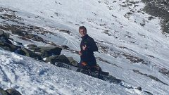 Rock Climbing Photo: Silly above the headwall