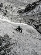 Rock Climbing Photo: NB on the P4 slab