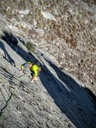 Rock Climbing Photo: Eric Holland on P2 of The Rocketship