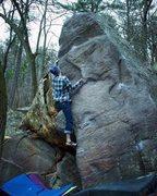 Rock Climbing Photo: Erick closing out the fall season!