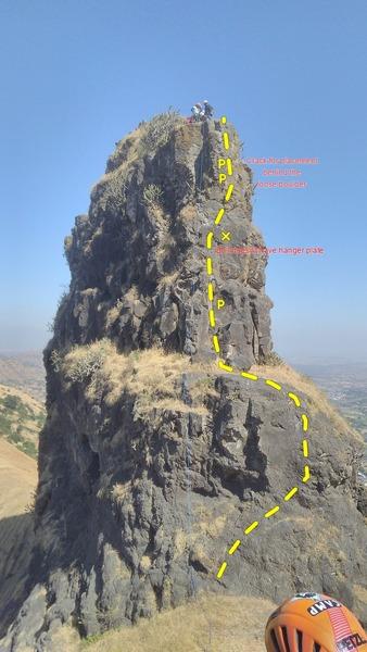 Rock Climbing Photo: Anjaneri Navri Topo