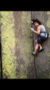 Rock Climbing Photo: Not so stoked on climbing...