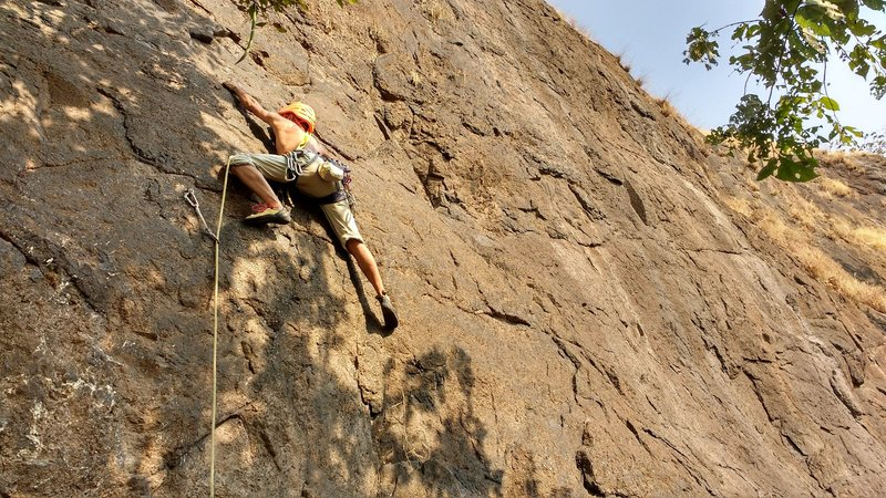 Blazing hot after 2nd bolt, if you are climbing in the afternoons.