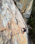 Rock Climbing Photo: Danford Jooste is all smiles after entering the Ha...