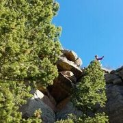 Rock Climbing Photo: GB atop P1, still Looking for Trouble, Nov. 2, 201...