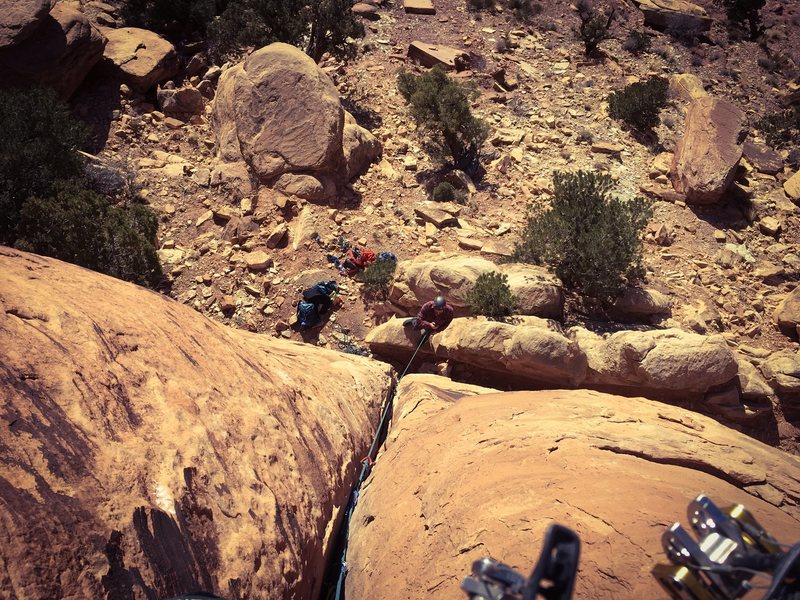 Rock Climbing Photo: Looking down the route.  Super short.