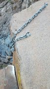 Rock Climbing Photo: Anchor at top of River Run