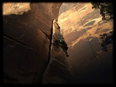 Rock Climbing Photo: Helps to use the left side of the pillar.  Definit...