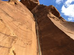 Rock Climbing Photo: Stereotypical shot of Private Pizza.  Use BD 1 and...