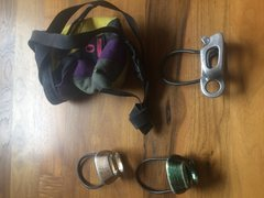 Rock Climbing Photo: Chalk bag $10; atc $5; atc guide sold