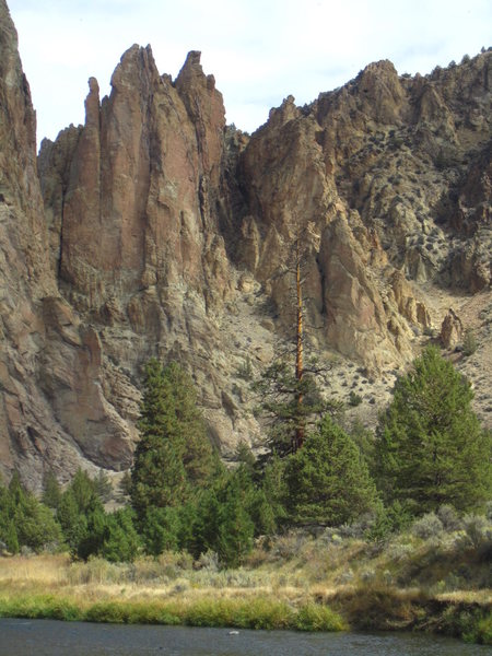 Rock Climbing Photo: Anglin's Buttress from the main trail.