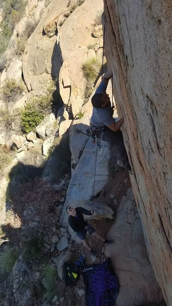 Rock Climbing Photo: Jamming it on Craig's Crack