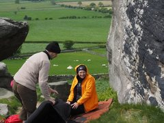 Rock Climbing Photo: Excited to be bouldering on Yorkshire gritstone!