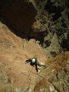 Rock Climbing Photo: Taken from the hidden anchor atop p2.