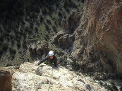 Rock Climbing Photo: Alan follows the FA of pitch 3