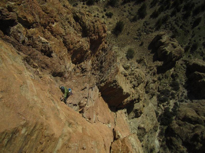 Rock Climbing Photo: The boulder problem crux of P3