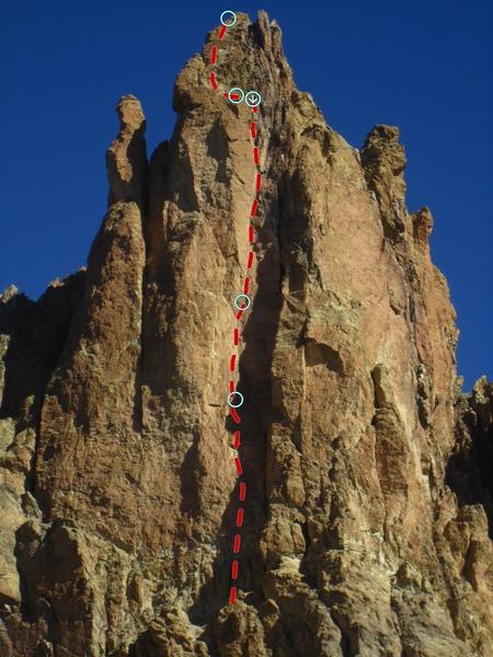 Rock Climbing Photo: Jim Climbing