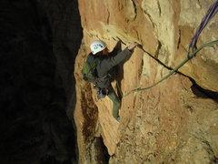 Rock Climbing Photo: finishing the traverse